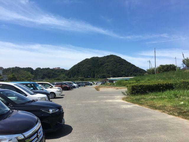 竹野浜海水浴場の無料駐車場