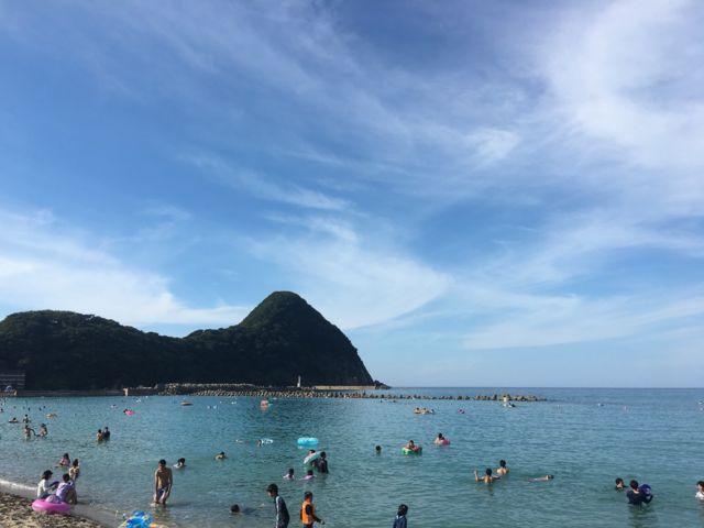 竹野浜海水浴場の風景