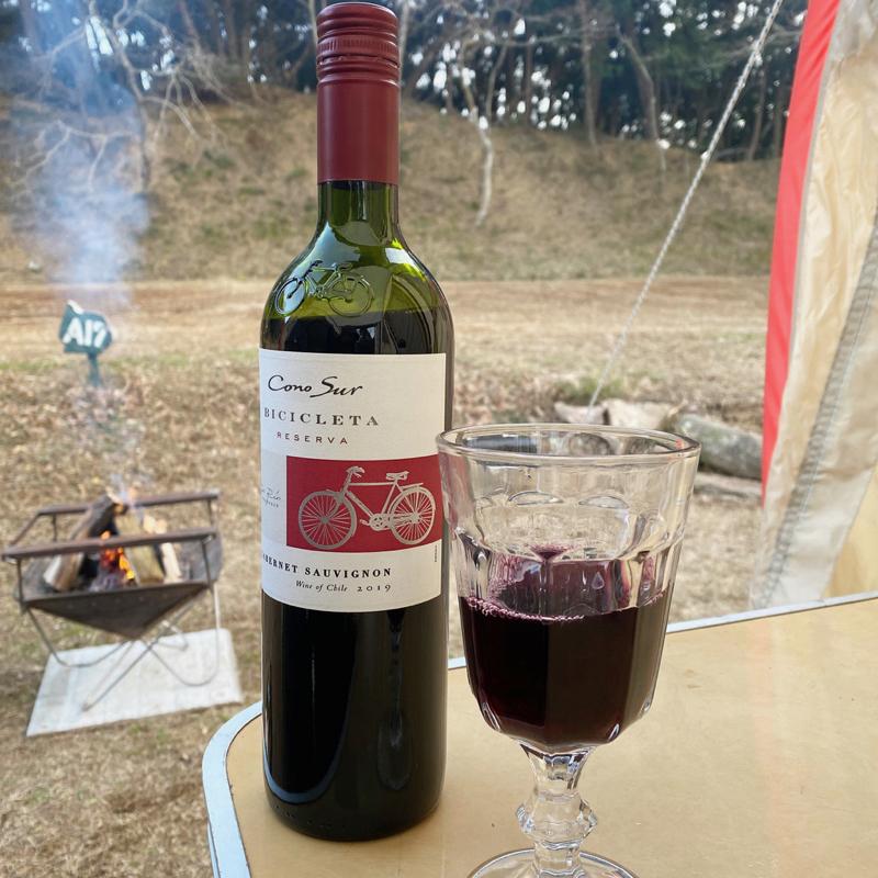 キャンプでワイン コノスル