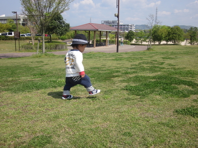 歩き始めた頃の長男