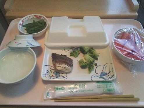 本日の昼ごはん(粥は5倍がゆ)