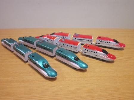 E5系E6系合わせて4本になった新幹線