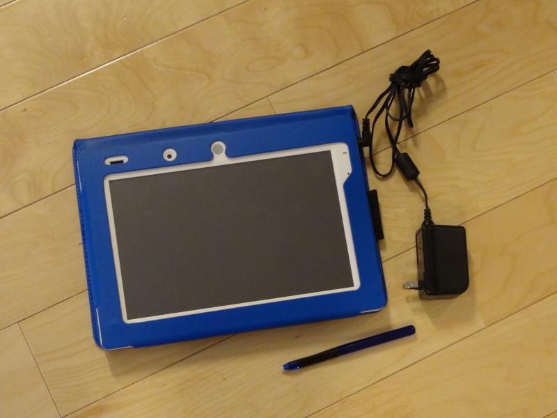 チャレンジパット3(本体、専用カバー、専用タッチペン、ACアダプター)