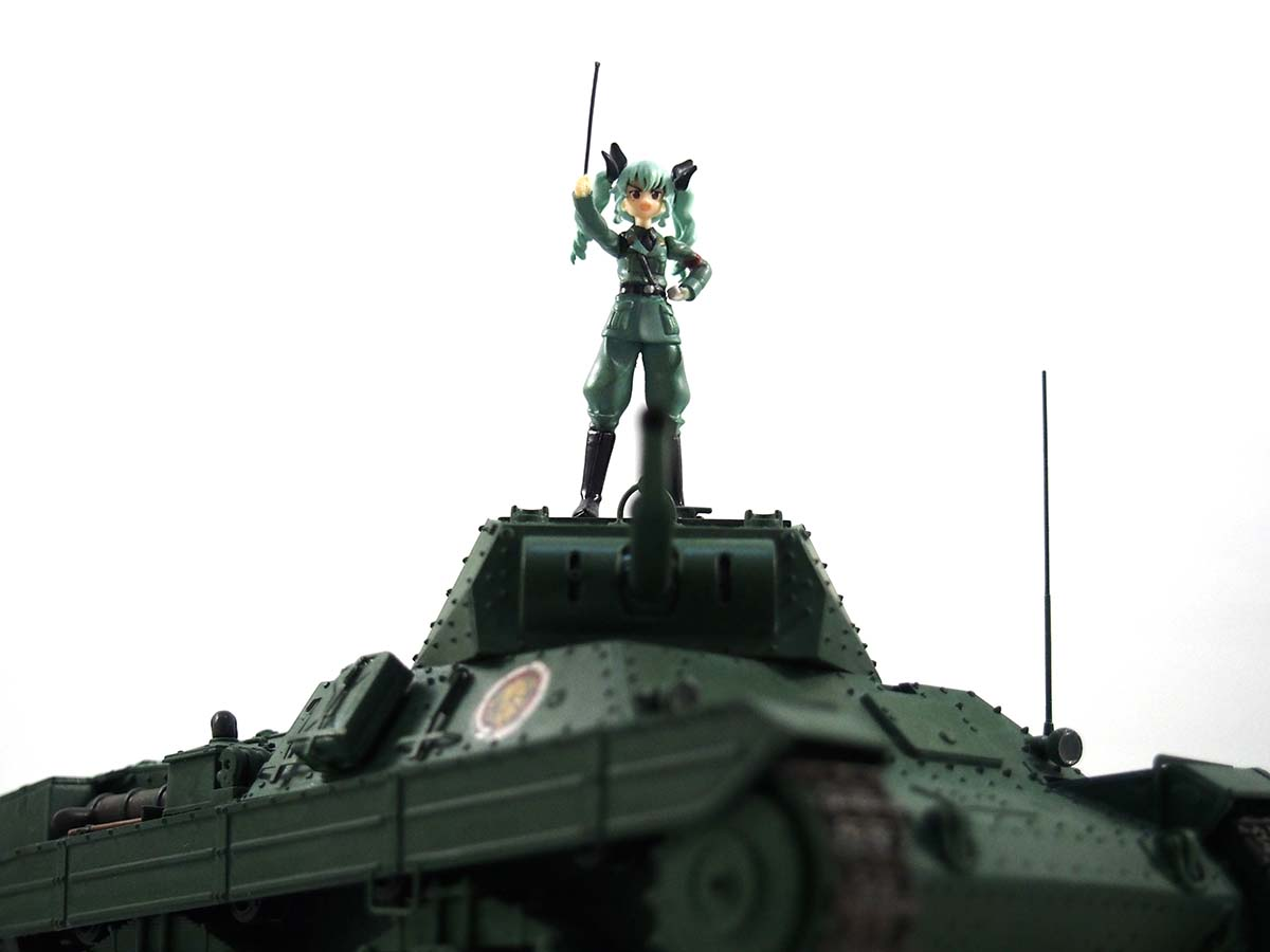 P40型重戦&アンチョビ 1/35 塗装済み完成写真 アップ