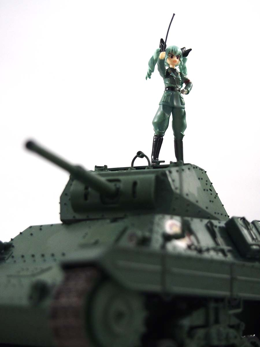 P40型重戦車/アンツィオ高校&アンチョビ塗装/改修レビュー