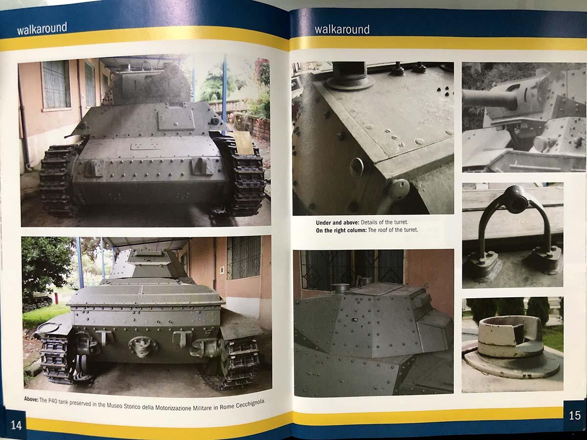 タミヤ(イタレリ)1/35 イタリア重戦車P40のフォトブック