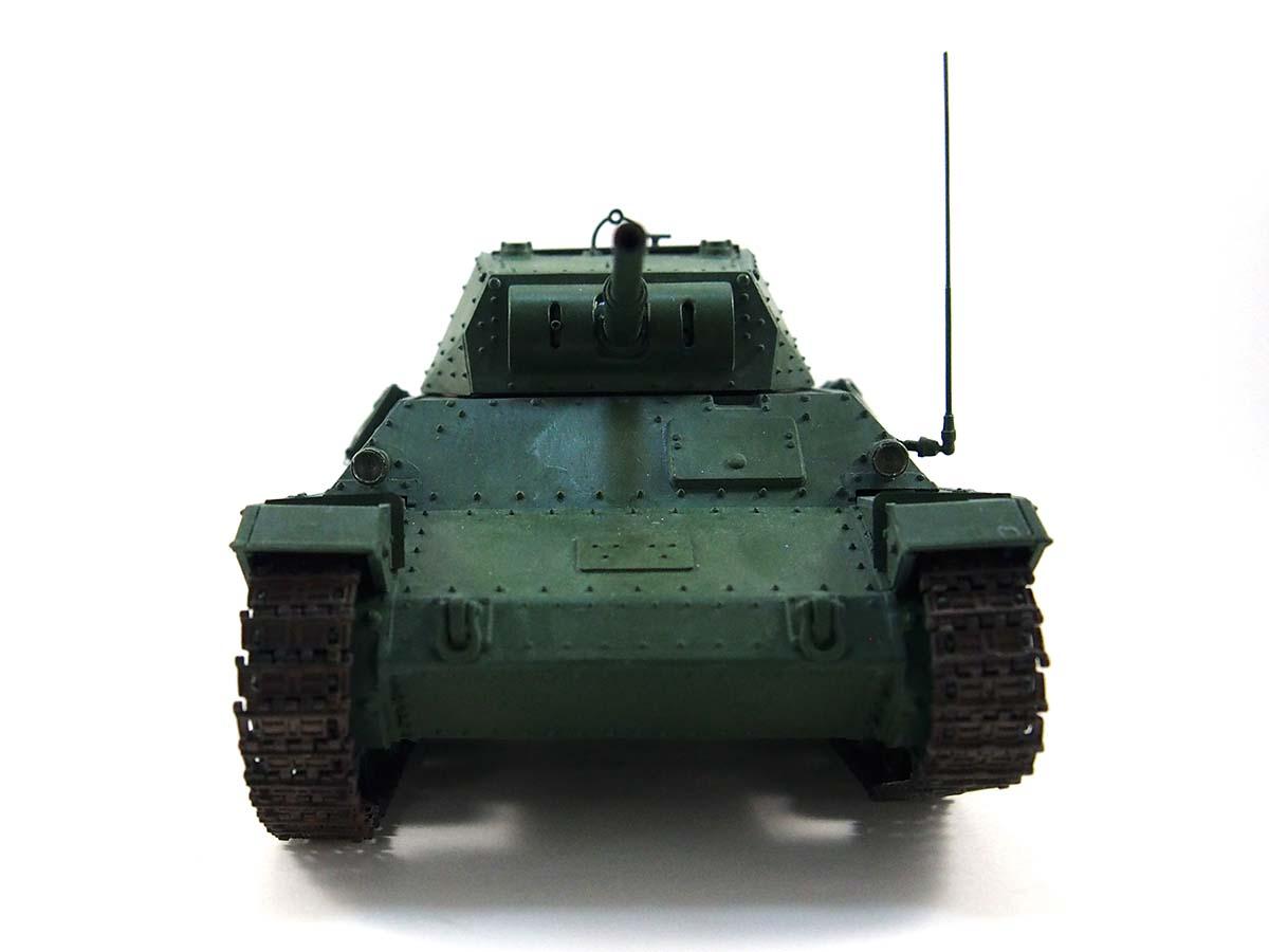 P40型重戦車/アンツィオ高校 塗装済み完成写真 正面
