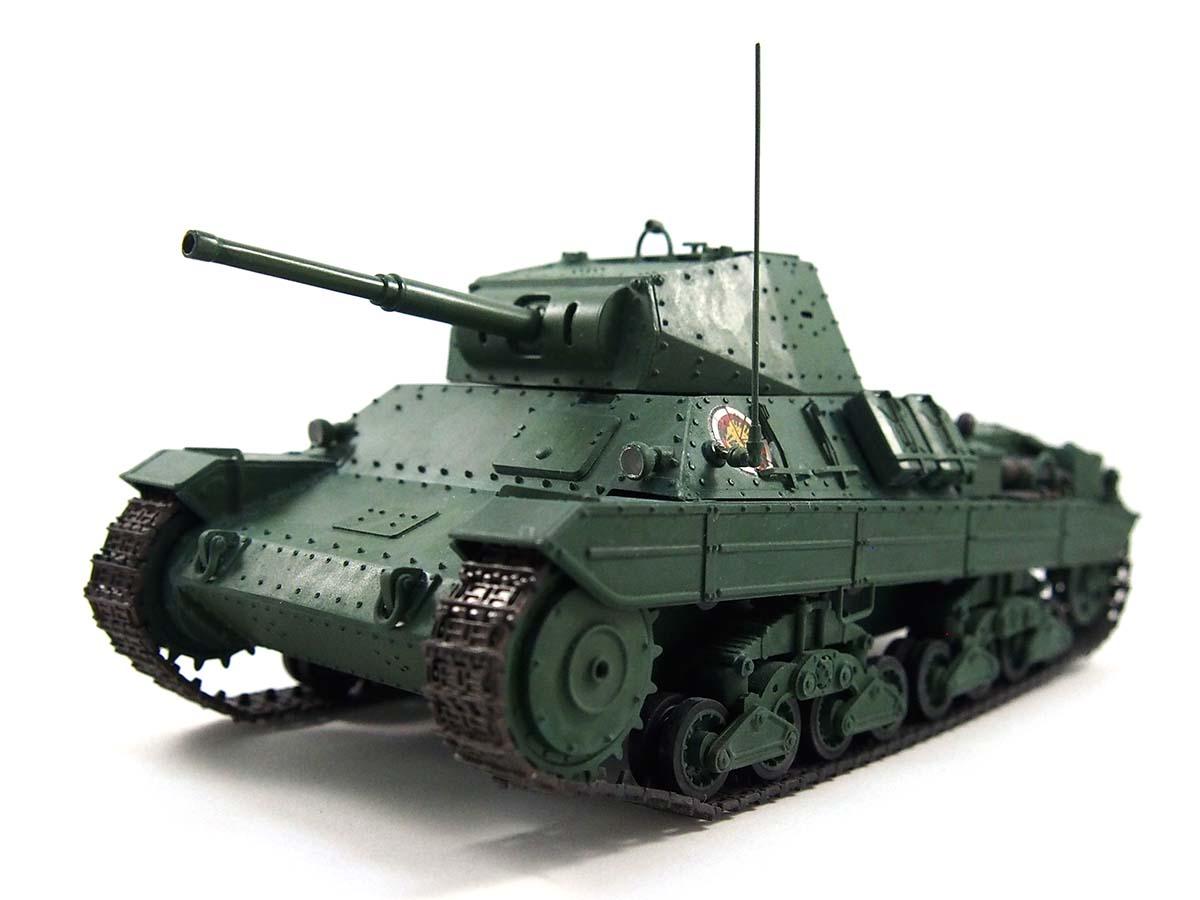P40型重戦車/アンツィオ高校 塗装済み完成写真 斜め前
