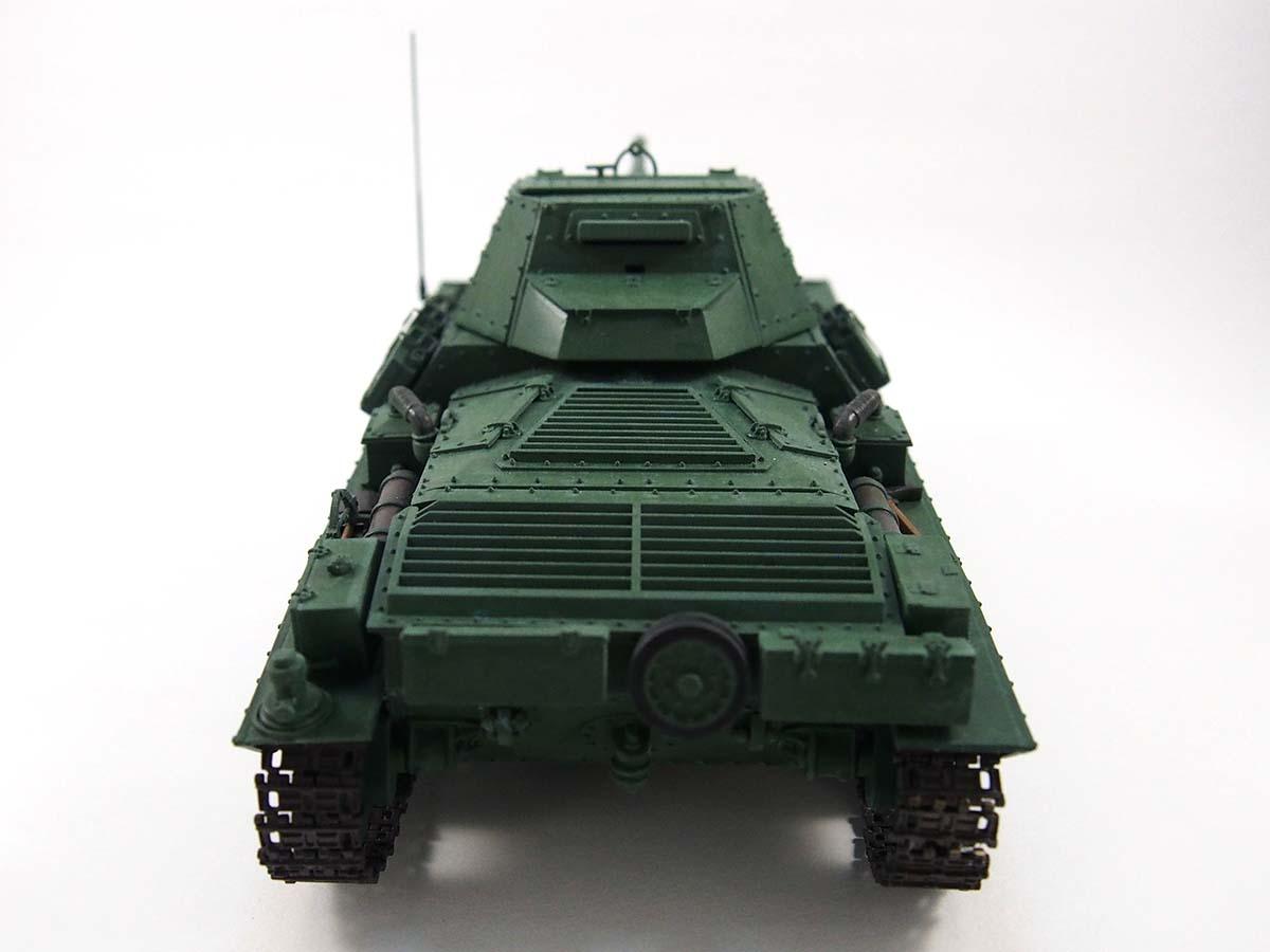 P40型重戦車/アンツィオ高校 塗装済み完成写真 背面