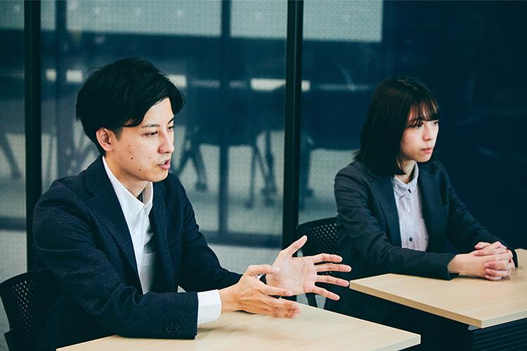 """""""大正大学のスマートユニバーシティ化について語るソフトバンク平根と福井"""""""