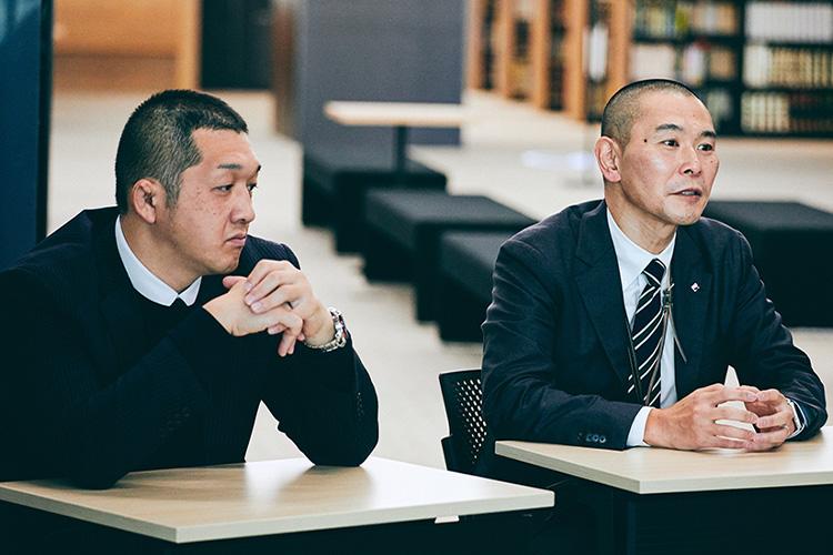 """""""大正大学のスマートユニバーシティ構想について語る髙橋氏と日野氏"""""""
