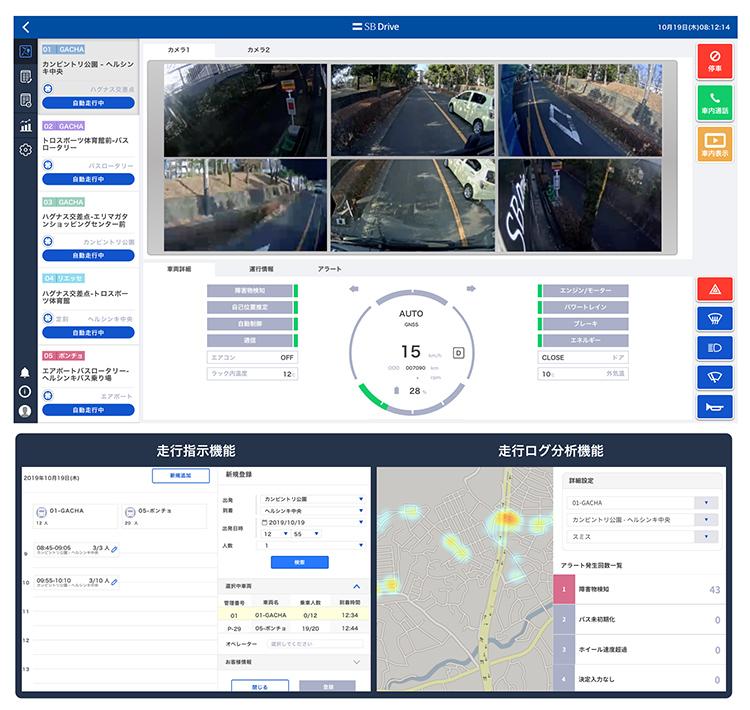 自動運転車両運行プラットフォーム「Dispatcher(ディスパッチャー)」の画面