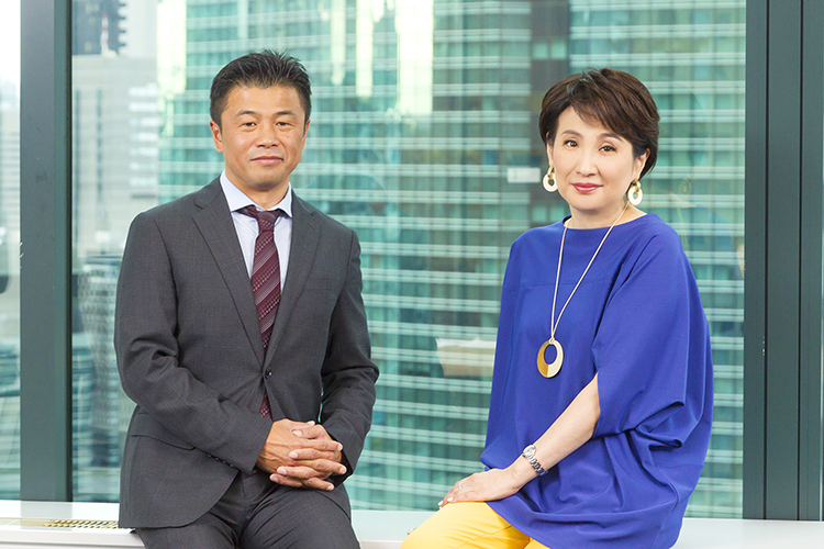 """5Gについて対談した野田氏と木場氏"""