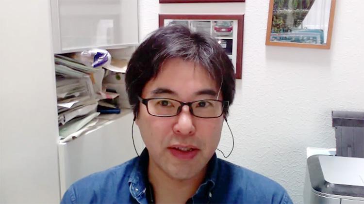 """""""相原 健郎氏。取材はZoomミーティングで行った。"""""""