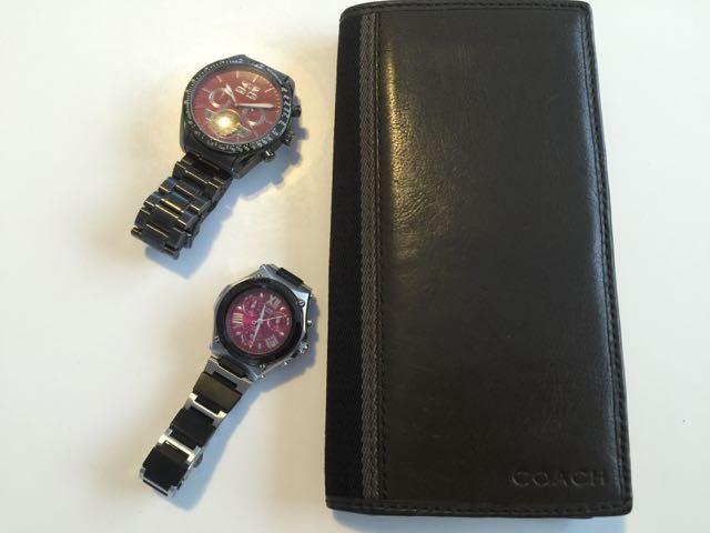 私の財布と腕時計