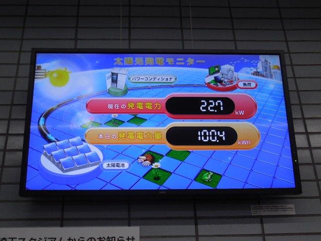 浦和美園駅 太陽光発電システム モニター