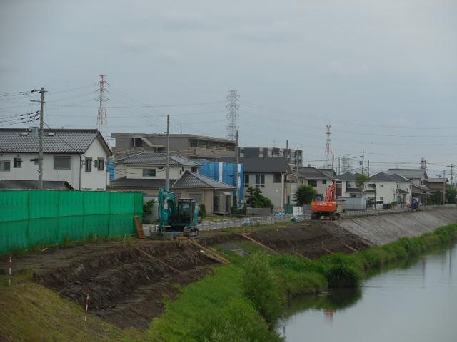 綾瀬川 遊歩道