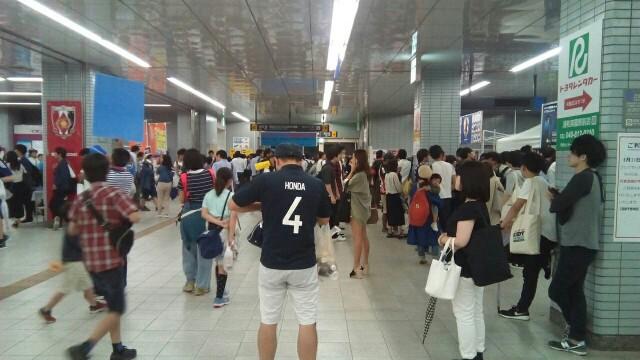サッカー日本代表戦 浦和美園駅