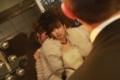 [091128日航東京結婚式後][パーティー途中でお台][夜景の集合写真]