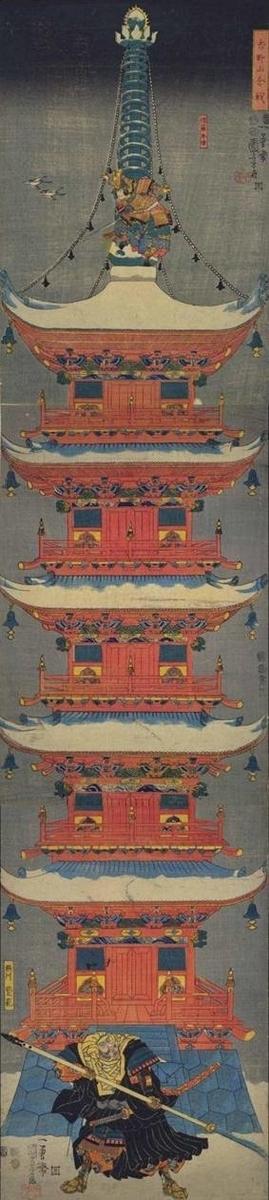 歌川国芳『吉野山合戦』