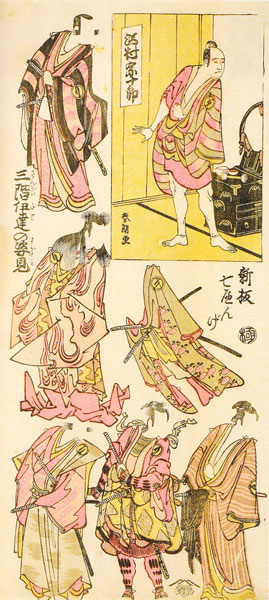 葛飾北斎「新板七へんげ 三階伊達の姿見 沢村宗十郎」画像