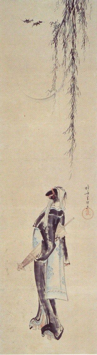 葛飾北斎「夜鷹図」画像