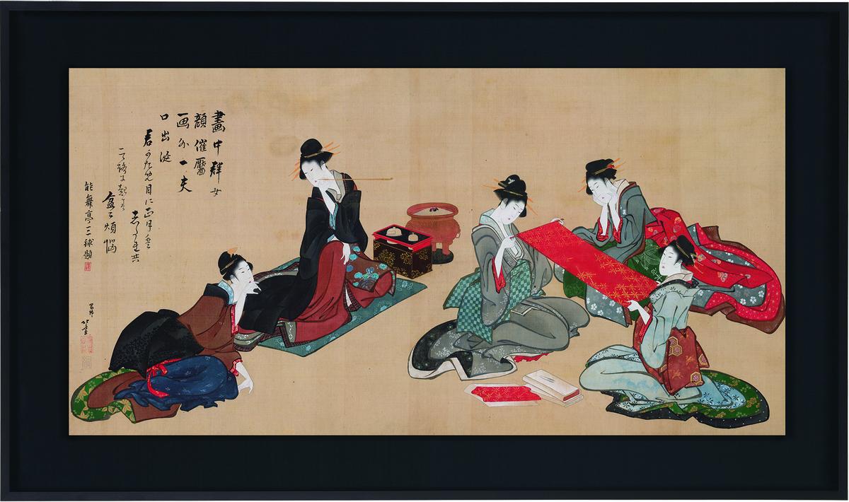 葛飾北斎「五美人図」画像