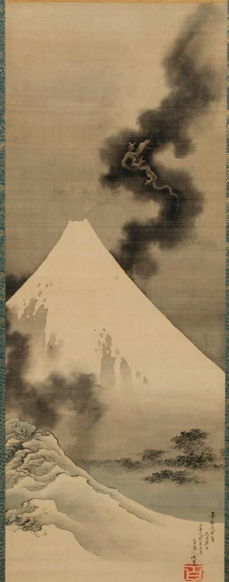 葛飾北斎「富士越龍図」画像
