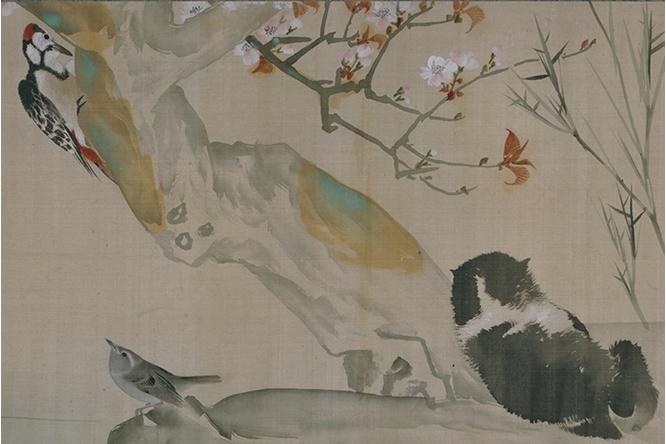 作品名:花鳥遊魚図巻 作者:長澤芦雪 時代:江戸時代・18世紀 所蔵:文化庁