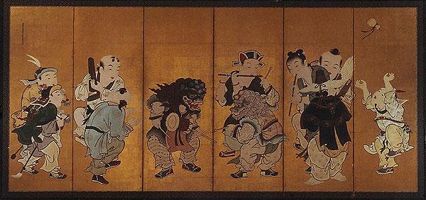 作品名:唐子遊図屏風 作者:狩野探幽 時代:江戸時代・17世紀 所蔵:宮内庁三の丸尚蔵館