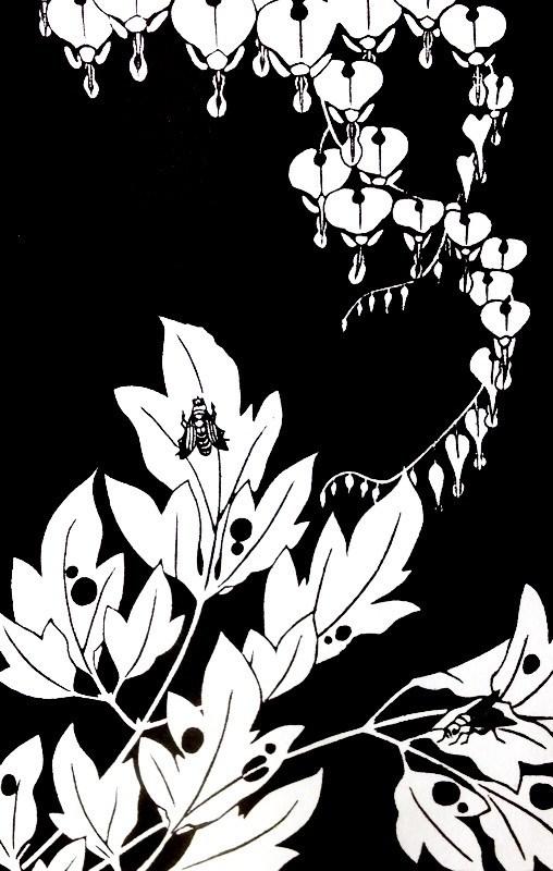 作品名:玄圃瑤華「檀特・華鬘草」「花菖蒲・棕櫚」 作者:伊藤若冲 時代:江戸時代・明和5年(1768) 所蔵:東京国立博物館