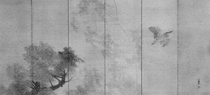 作品名:雨霽 作者:竹内栖鳳 時代:大正13年(1924) 所蔵:宮内庁三の丸尚蔵館