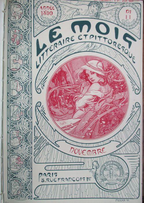作品名:『ル・モア(12ヵ月)』誌:2月、10月、11月、12月のデザイン 英 題:Les Mois, Littèraire et pittoresque (January - June 1903)