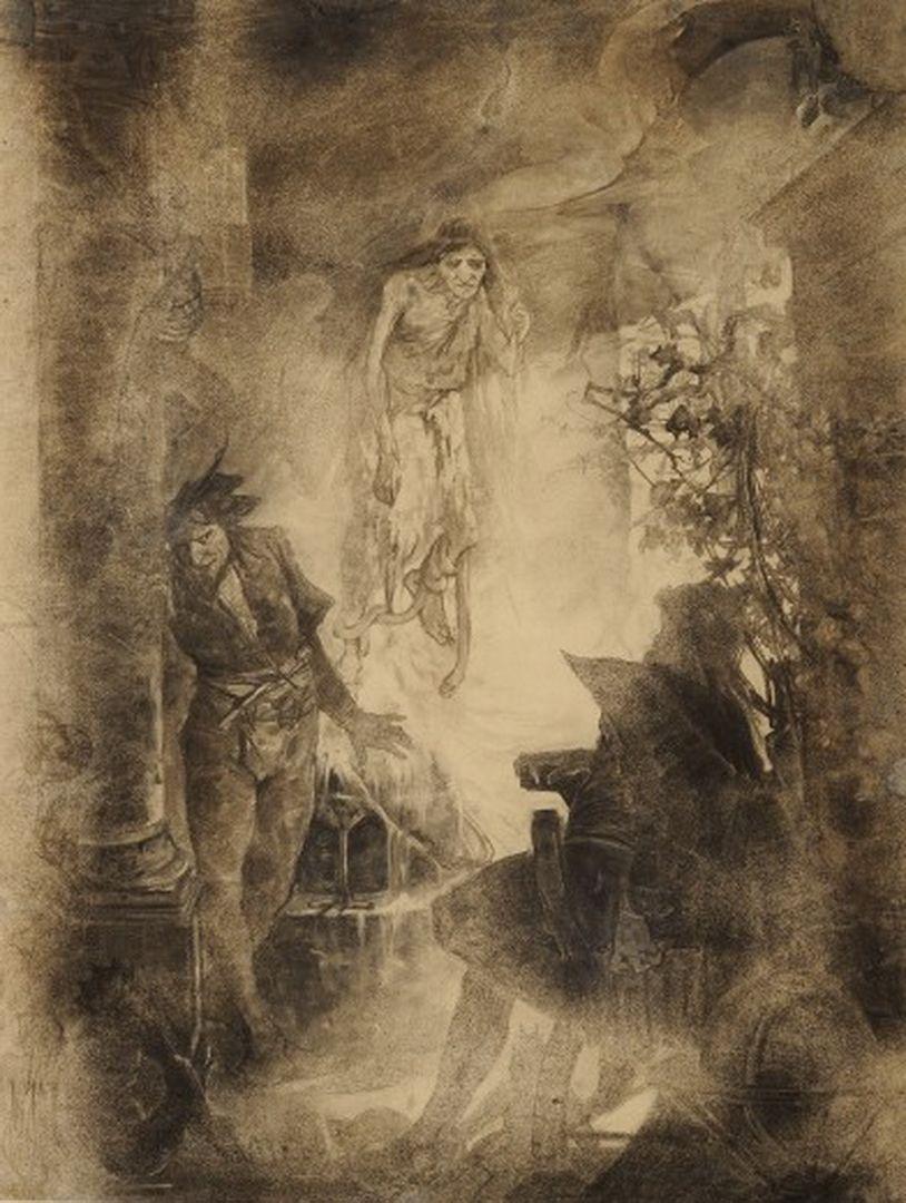 作品名:幻影:『ファウスト』の挿絵の習作 英 題:Vision: study for an illustration for Faust