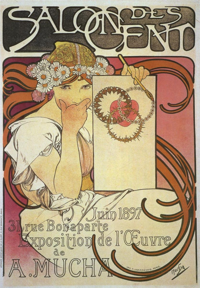 作品名:サロン・デ・サン ミュシャ展 英 題:Salon des Cent: Exhibition of the Work of A. Mucha
