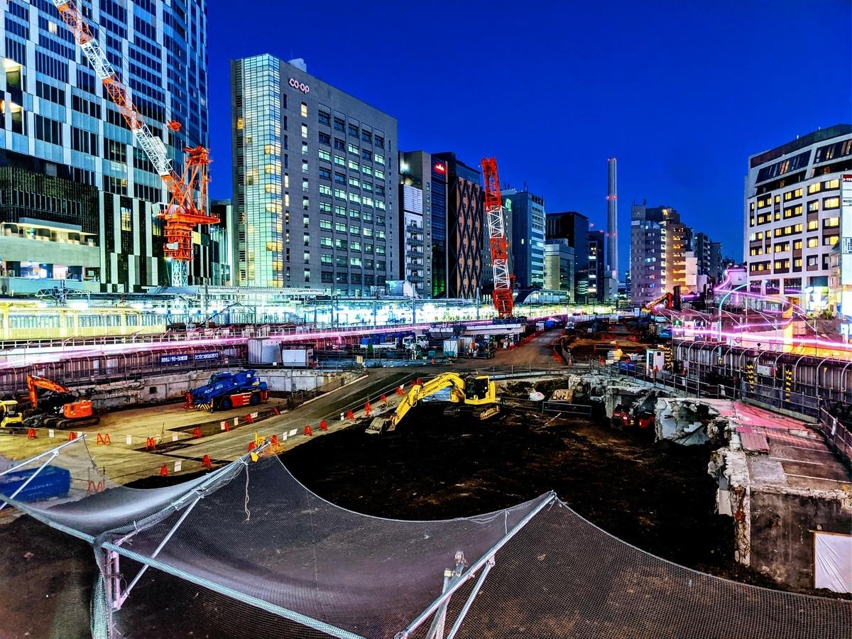 渋谷駅周辺の再開発工事