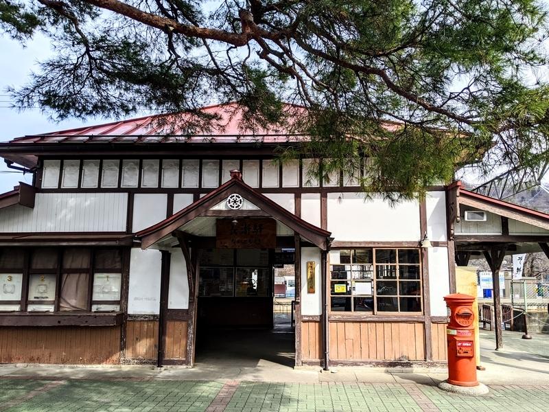 長瀞駅にて。