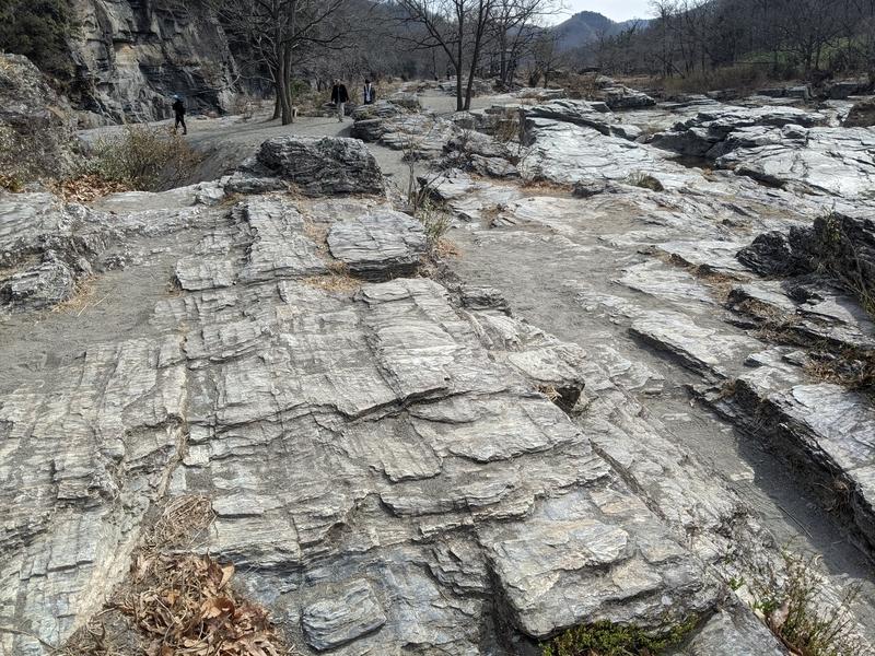 長瀞の岩畳にて。