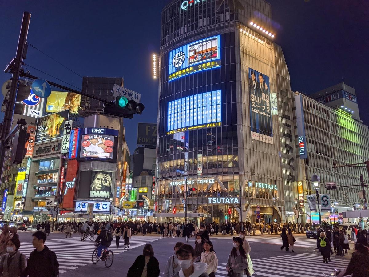 渋谷:スクランブル交差点の写真