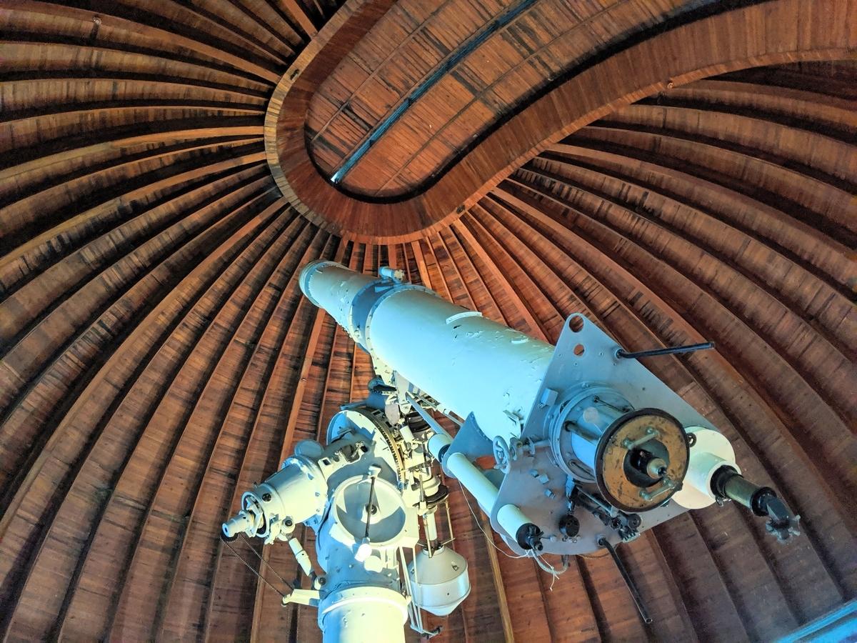 こちらは「大赤道儀室」の望遠鏡。