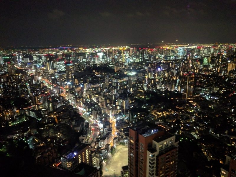 Tokyo City Viewからの夜景の写真