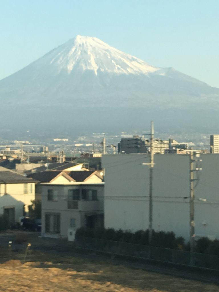 東海道新幹線から見える富士山