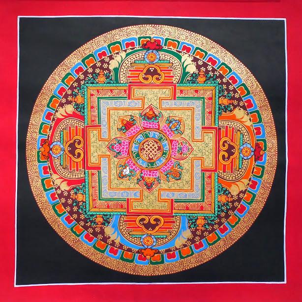 8 auspicious symbols の 曼荼羅