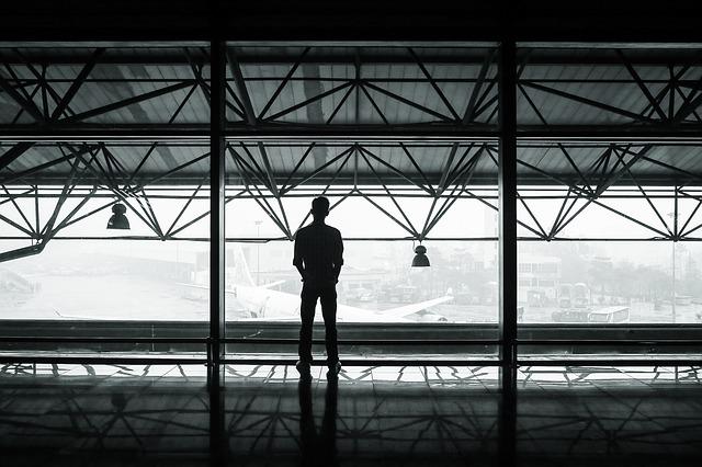 空港で一人