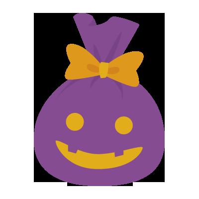 ハロウィン風ギフトプレゼントボックス(無料)
