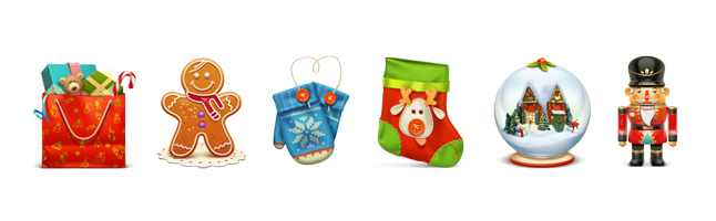 クリスマス・パーティー・おもちゃ・プレゼント・ギフトボックス・くつした・スノードーム・イラスト素材・商用無料・png