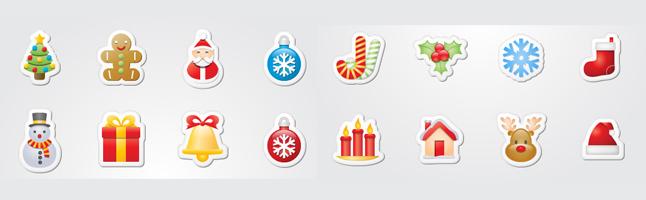 ククリスマス・パーティー・プレゼント・ゆきだるま・クッキー・トナカイ・ベル・イラスト素材・商用無料・png