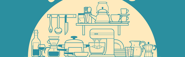 キッチン用品・台所用品・鍋・なべ・お皿・イラスト素材・商用無料・png