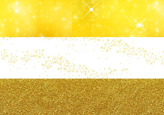 豪華でキラキラしているゴールドのイラスト素材・商用無料(PNG)