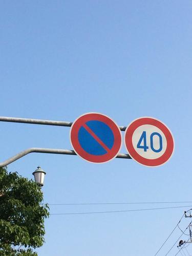 道路標識 制限速度 40Km